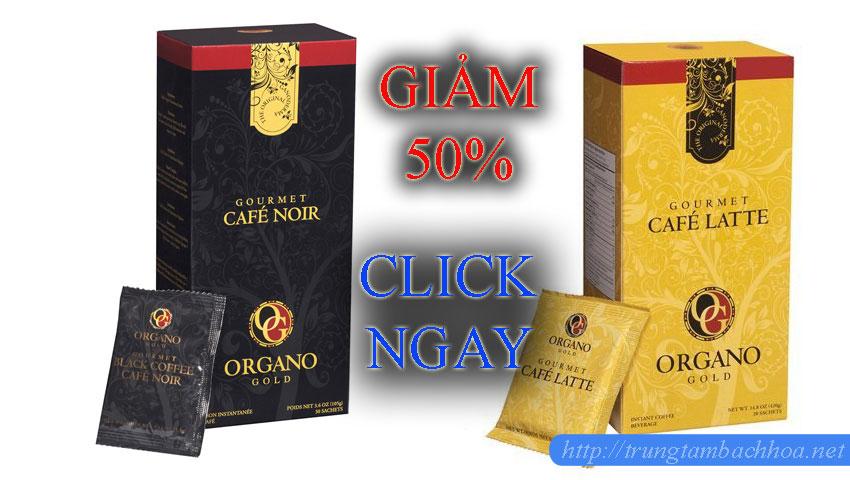 Cà phê organo gold giảm ngay 50%