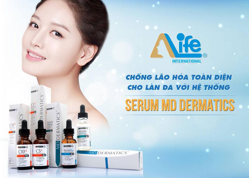 Hệ thống serum chống lão hóa của md dermatics