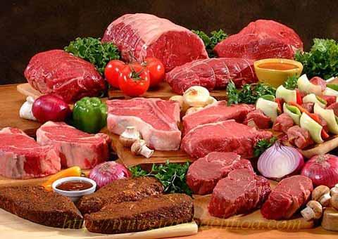 Các loại thịt có màu đỏ tươi