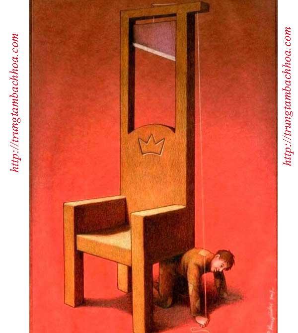 người nghèo bị thế cho 1 chân ghế