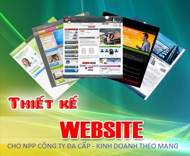 Thiết kế web cho NPP công ty Kinh Doanh Theo Mạng
