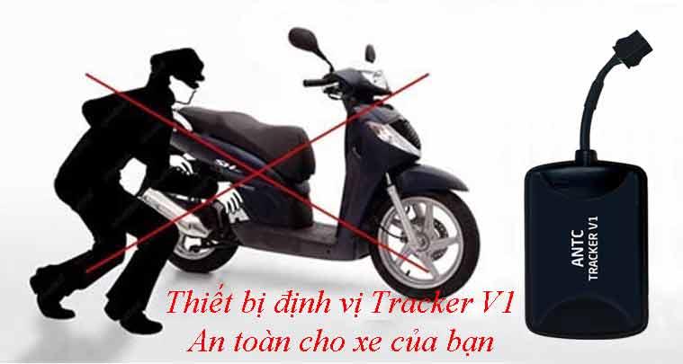 Chống trôm xe máy với track v1