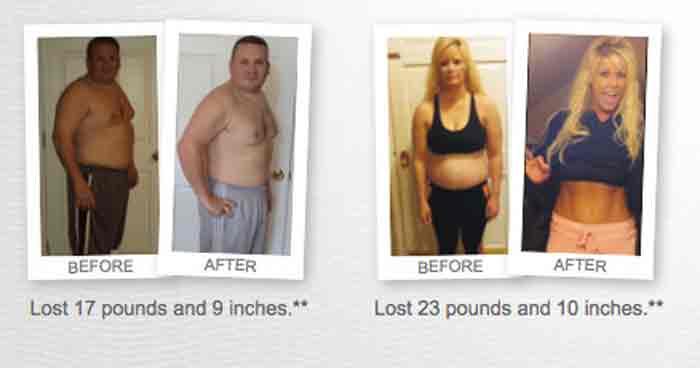 Kết quả giảm cân của vemma