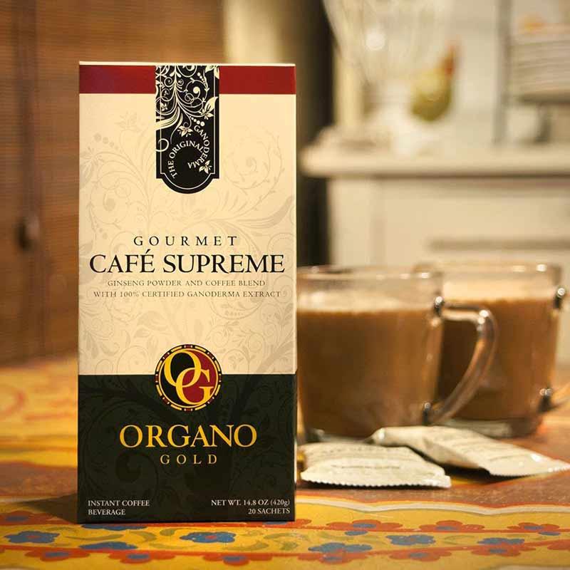 Hộp cà phê nhân sâm của Organo Gold