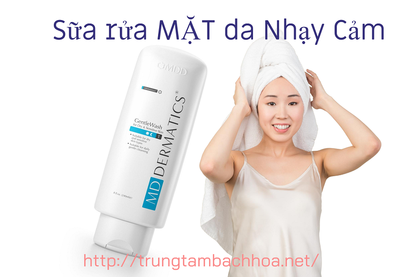 Chai số 1 sữa rửa mặt dành cho da nhạy cảm của md dermatics
