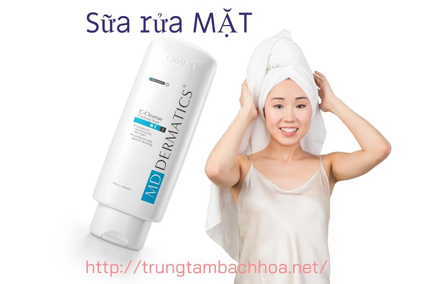 Chai số 1 sữa rửa mặt dành cho mọi loại da của md dermatics