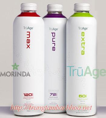 Bộ 3 sản phẩm TruAge của Morinda uống trực tiếp