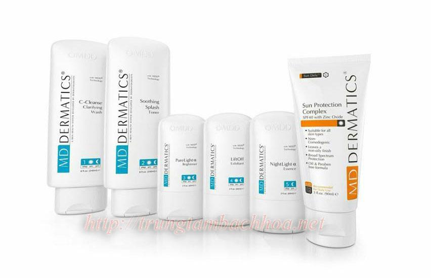 Bộ mỹ phẩm dưỡng da sau tái tạo md dermatics