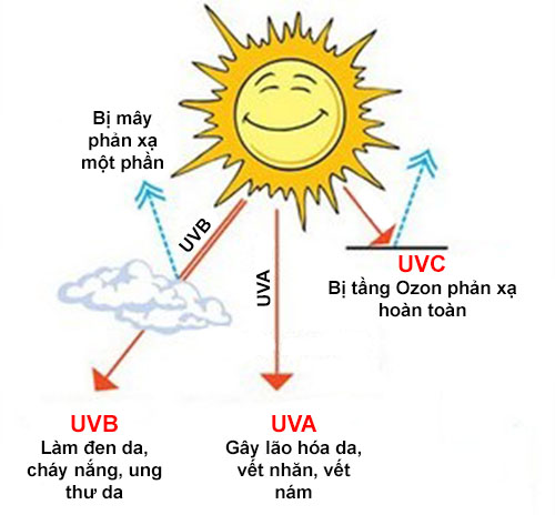 Tác hại của anh nắng mặt trời