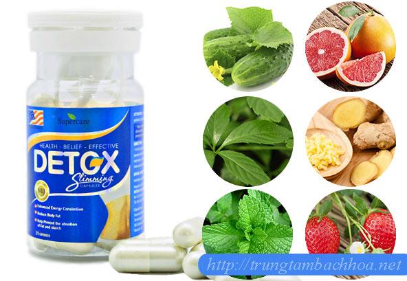 Thành phần sản phẩm detox slimming capsules