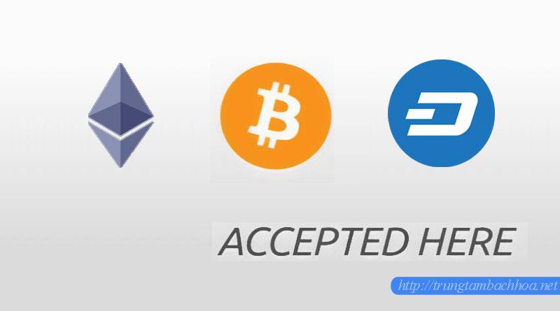 Mua mỹ phẩm thanh toán bằng Bitcoin, Dash coin và ethereum