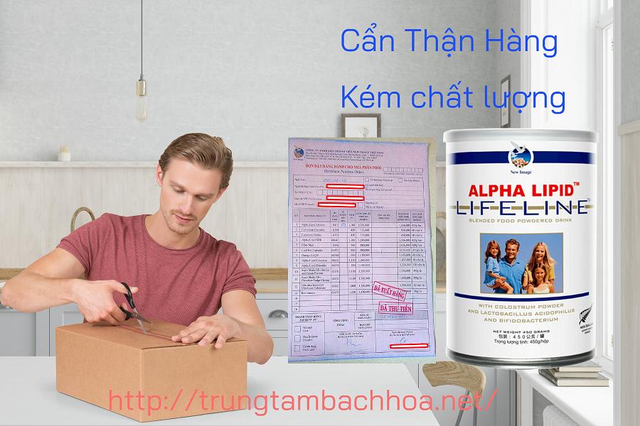 Kiểm tra sữa non alpha lipid để biết hàng thật hàng giả