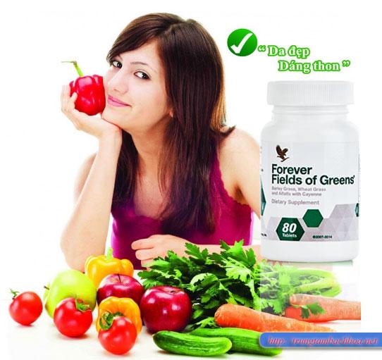 Forever Fields Of Greens của lô hội bổ sung rau xanh cho cơ thể