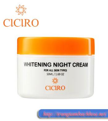 Kem dưỡng da ban đêm whitening night cream ciciro hàn quốc