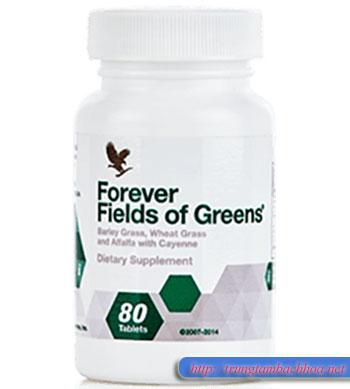 Viên bổ sung rau xanh forever fields of greens của flp