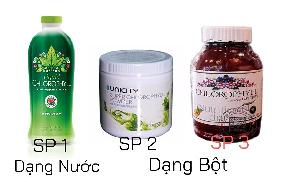 3 sản phẩm diệp lục khác chăm sóc sức khỏe