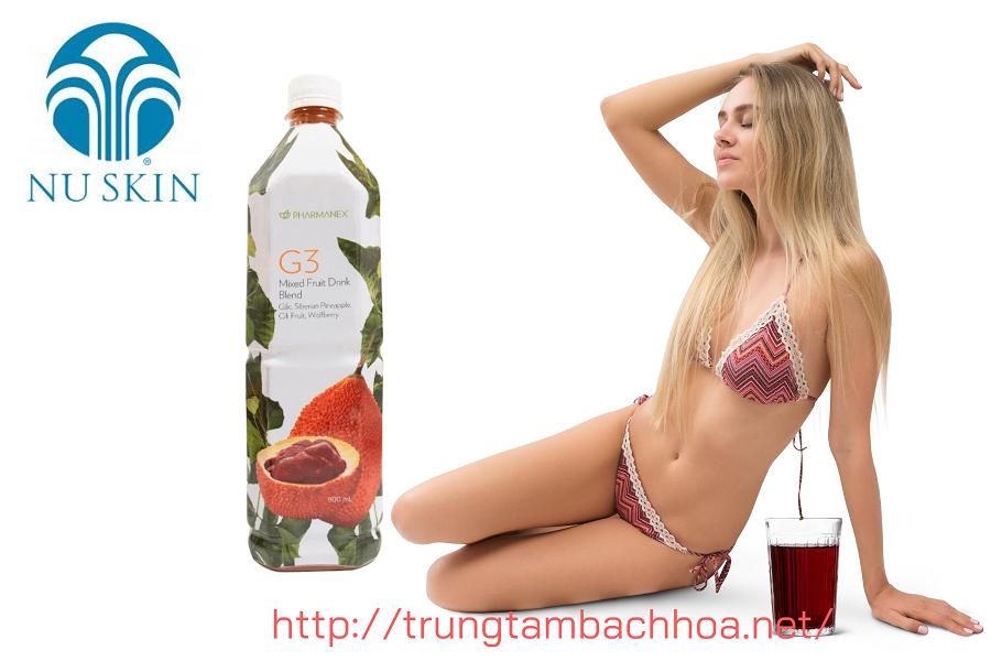 Nước Gấc G3 của Nuskin giúp bạn có làn da đẹp và vòc dáng đẹp